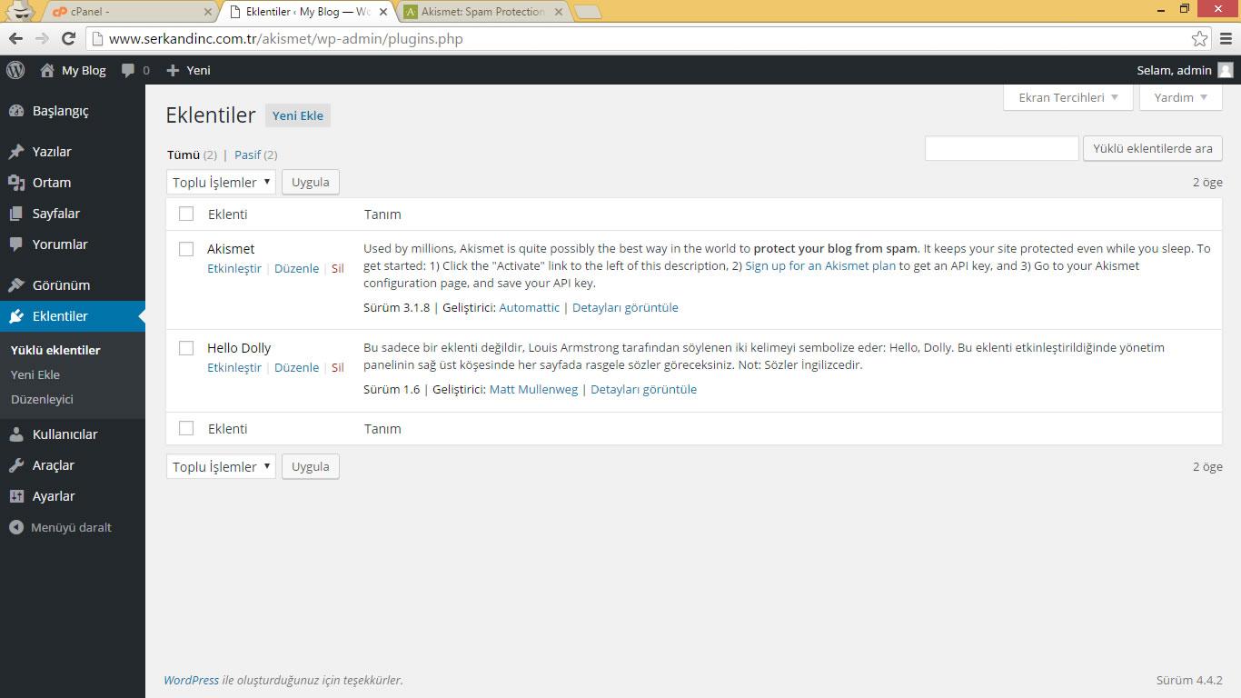 Wordpress Akismet Eklentisi Nedir - Nasıl Kurulur?