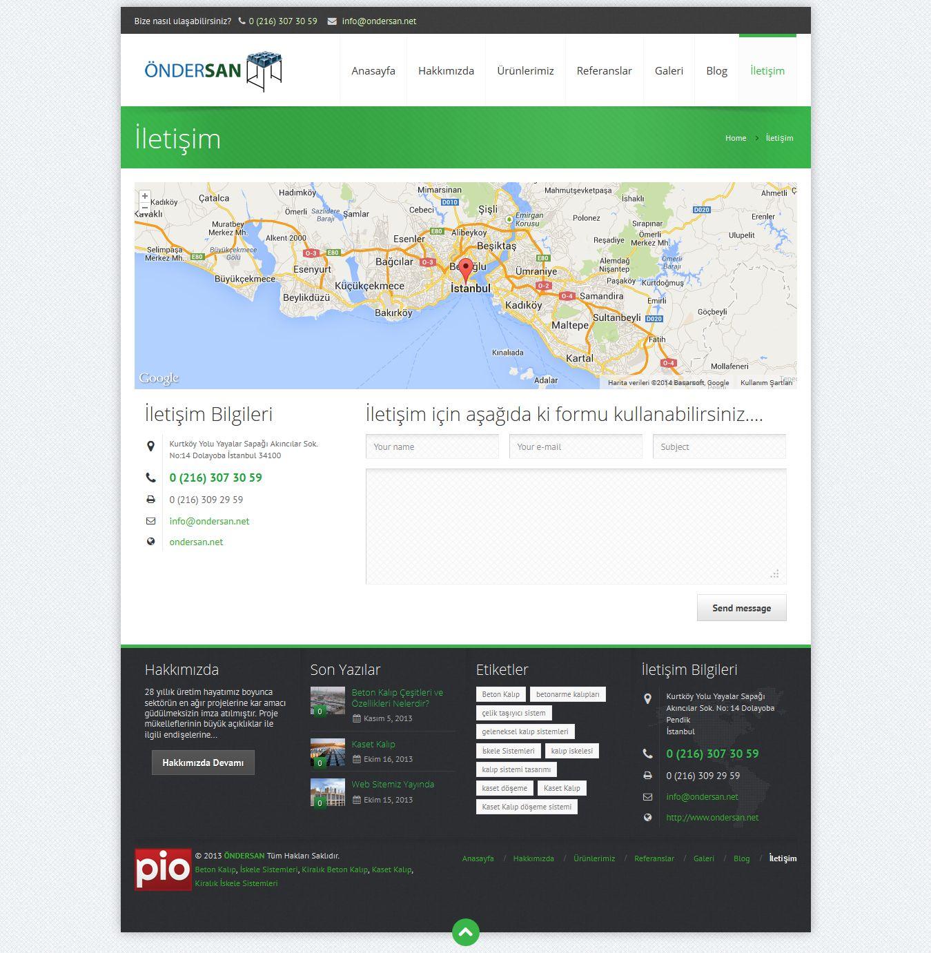 Öndersan Web Sitesi