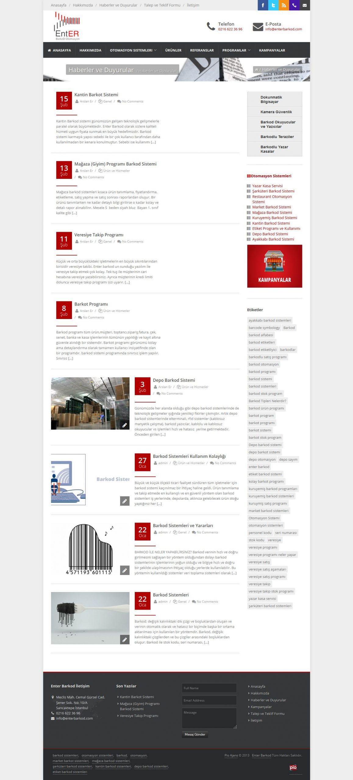 Enter Barkod Web Sitesi
