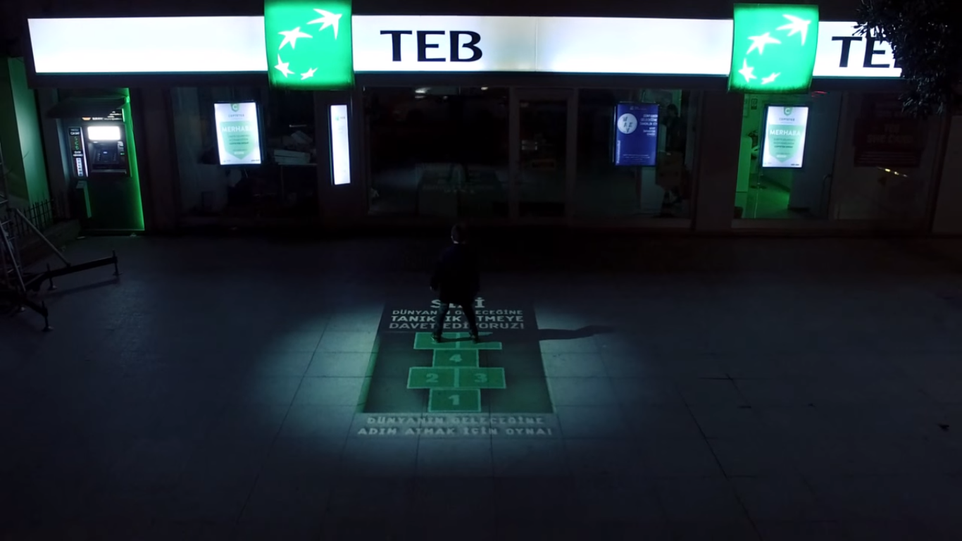 TEB'ten İnteraktif Bir Reklam