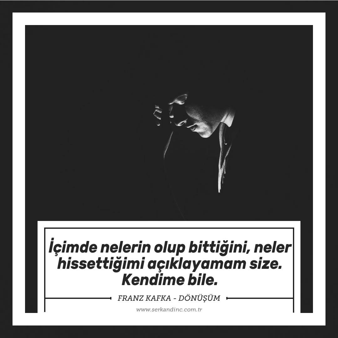 Franz Kafka Dönüşüm Kitap Alıntıları